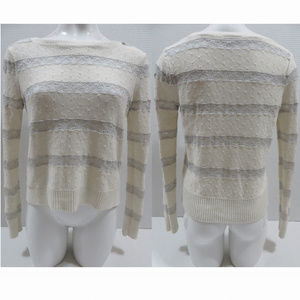 Topshop sweater 2 US lace inset stripes side split